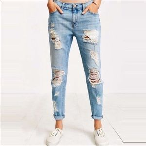 BDG Urban Outfitters Ripped Slim BF Low Rise Jeans